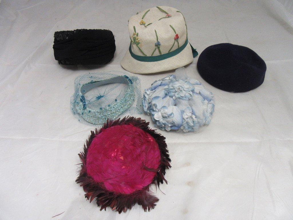 Six Vintage Hats