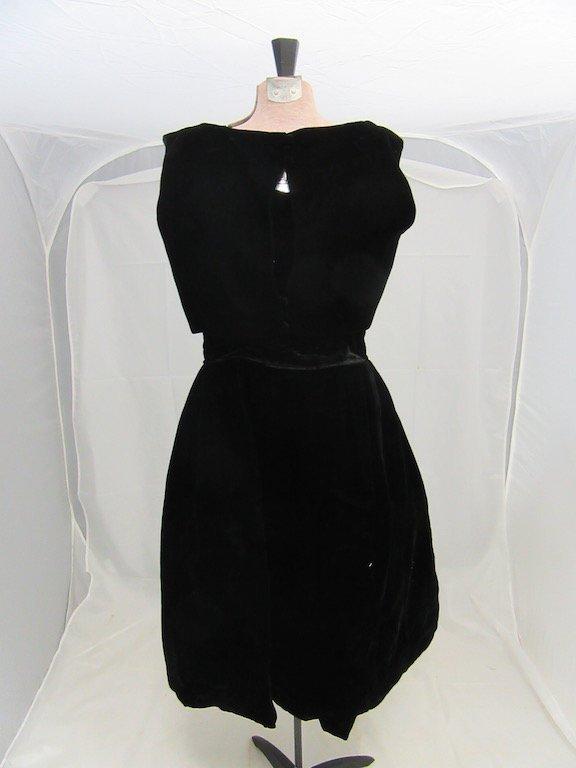 1930's/1940's Velvet Cocktail Dress with Blouse