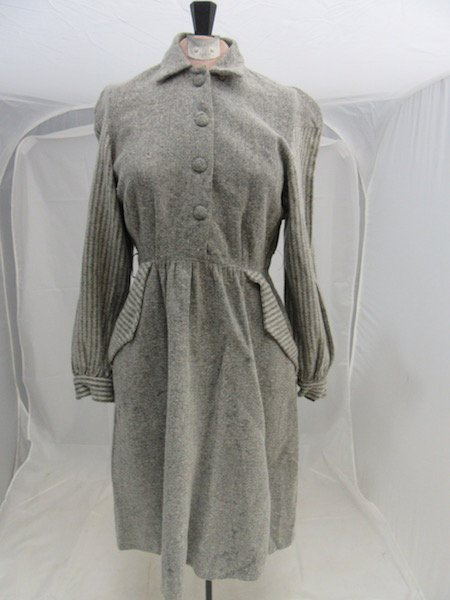 1930's Gray Dress Branded By Petti