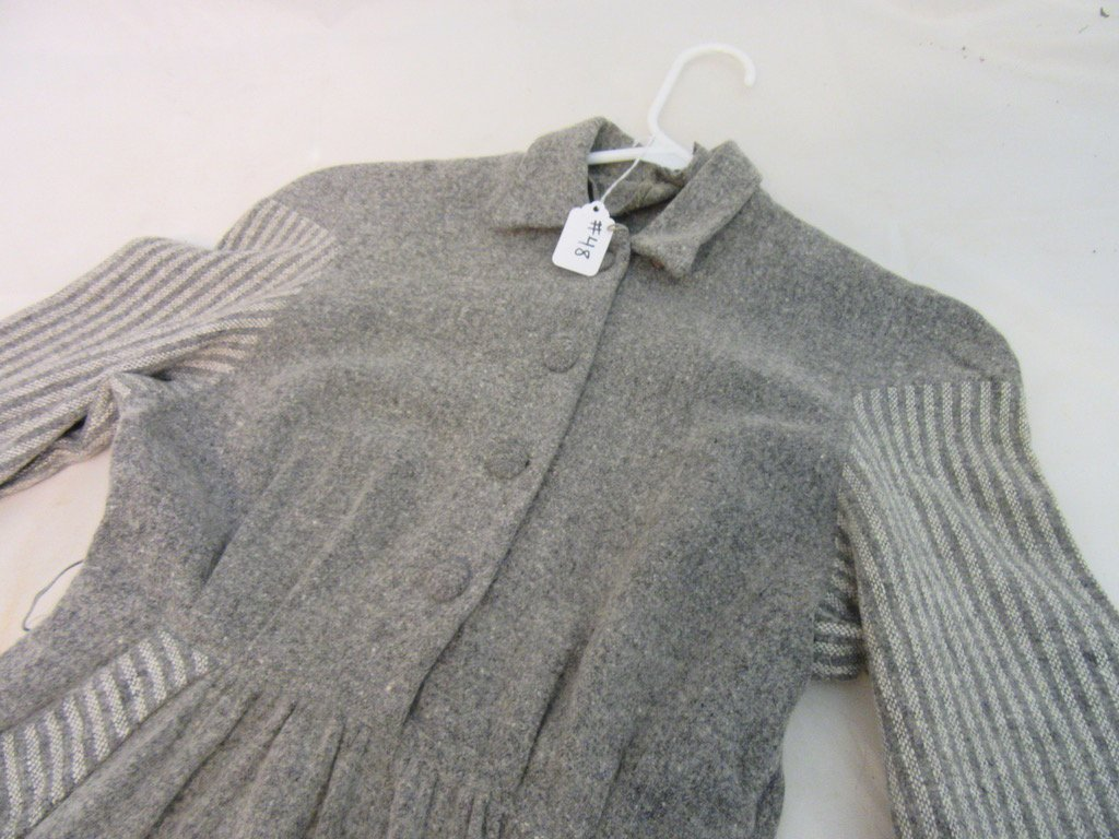 1930's Gray Dress Branded By Petti - 2