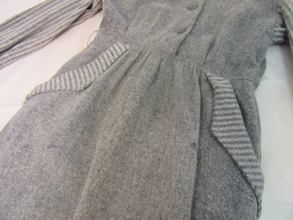1930's Gray Dress Branded By Petti - 3