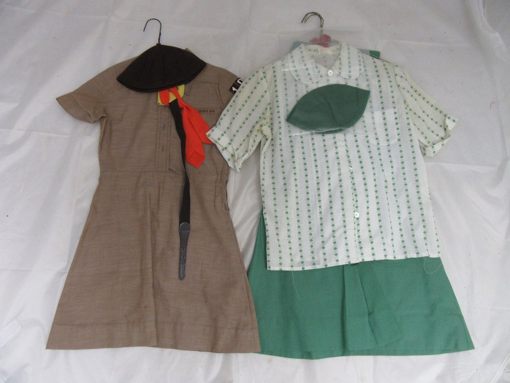 Two 1960s Girl Scout/Brownie Girl Uniforms