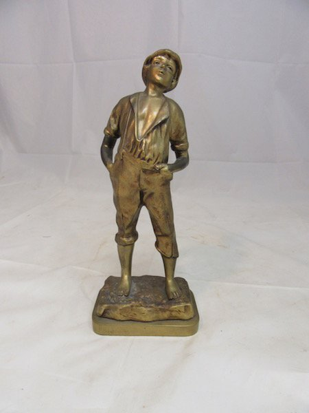Bronze 13.5 inch Italian Boy Sculpture