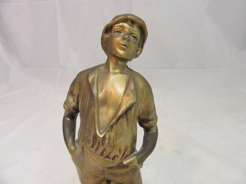 Bronze 13.5 inch Italian Boy Sculpture - 2