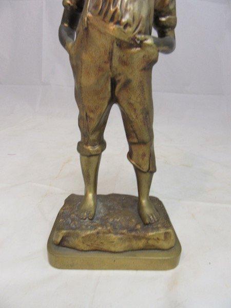 Bronze 13.5 inch Italian Boy Sculpture - 3