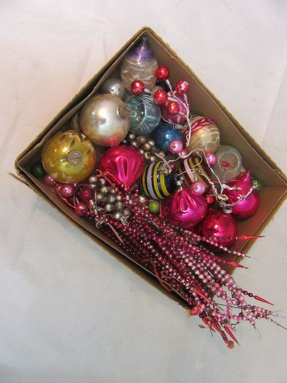 Vintage Ornaments and Made in Japan Christmas Tree