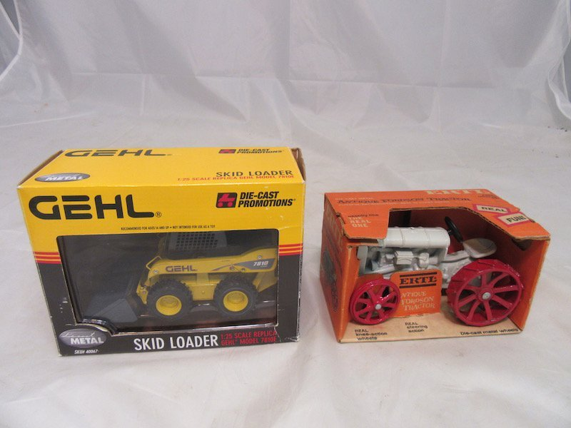 Gehl DieCast Promotions Skid Loader and Ertl Antique