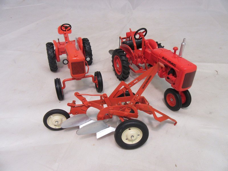 (2) Allis Chalmers Tractors and Cultivator Plow