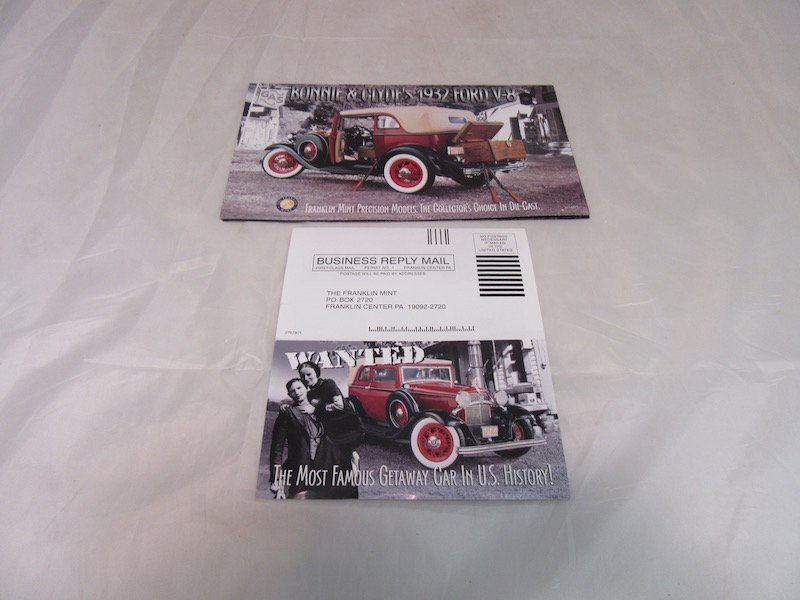 Franklin Mint Precision Models, Bonnie and Clyde 1932 - 4