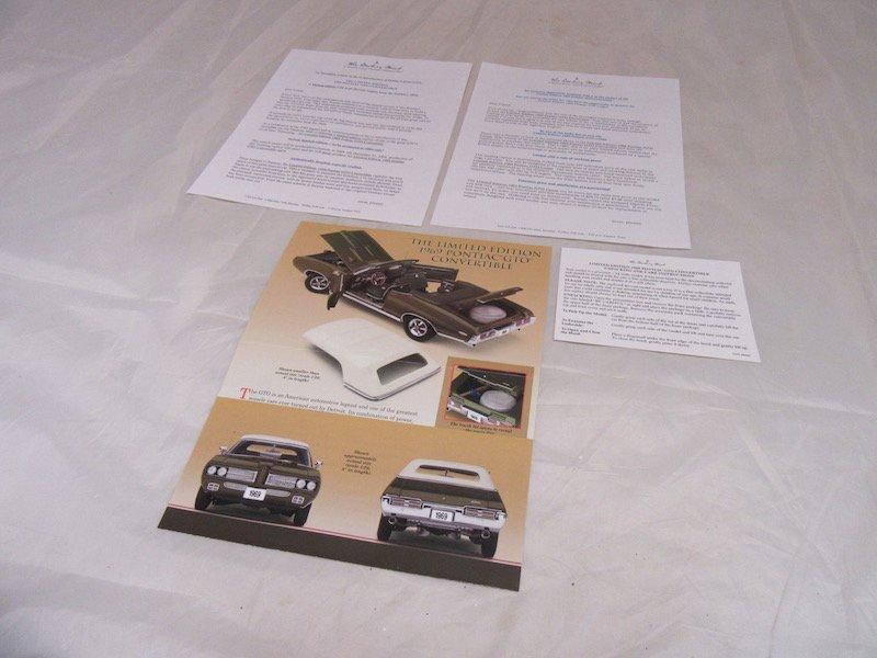 Danbury Mint Limited Edition 1969 Pontiac GTO - 3