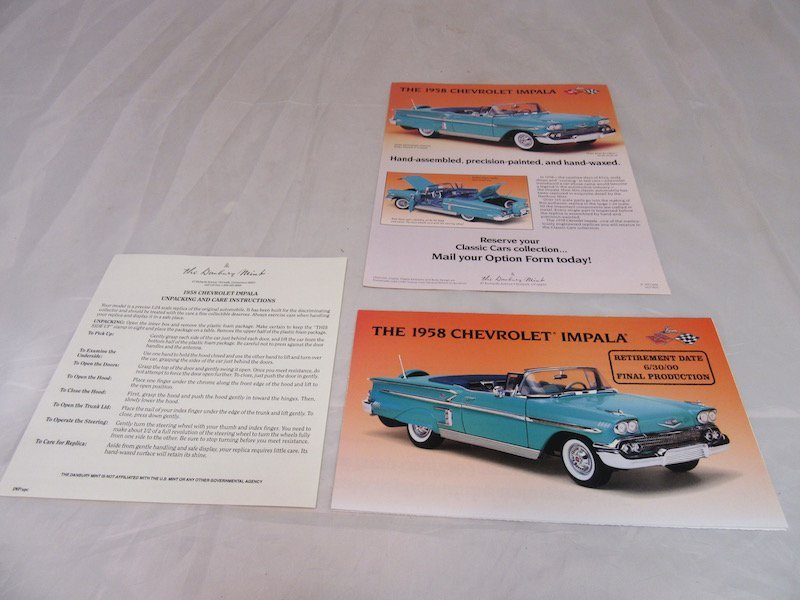 Danbury Mint 1958 Chevrolet Implala - 3