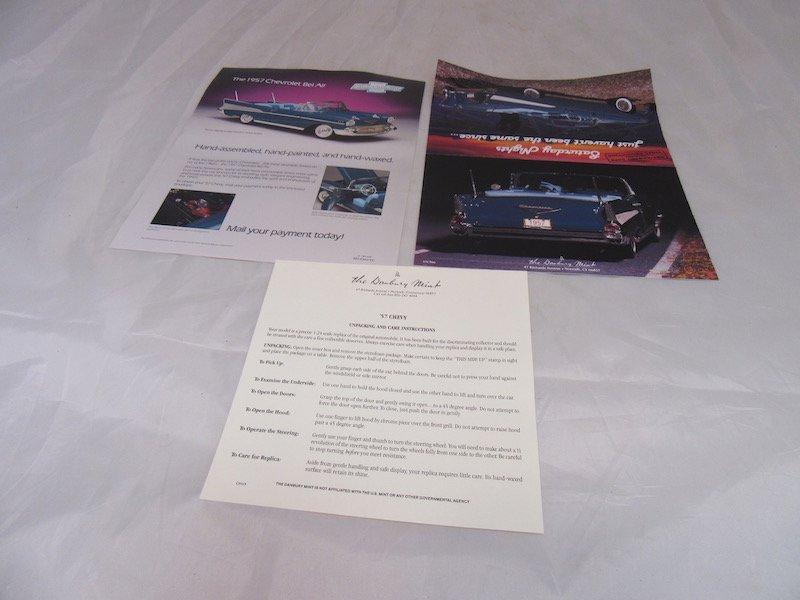 Danbury mint 1957 Chevrolet Bel Air - 3