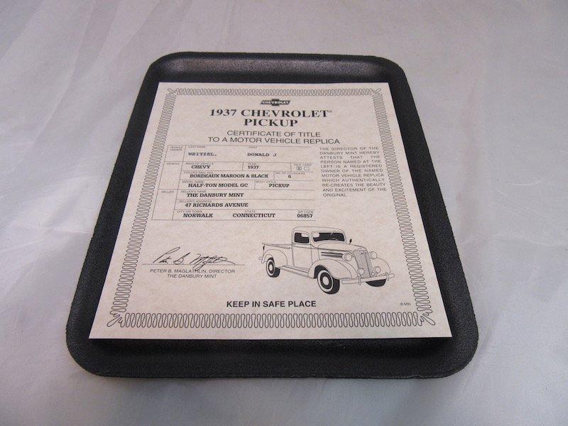 Danbury Mint 1937 Chevrolet Pickup - 2
