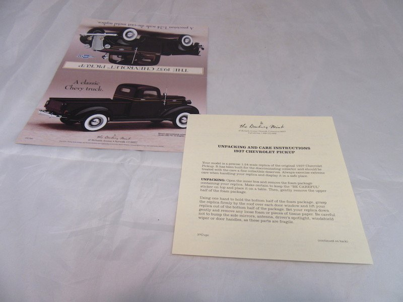 Danbury Mint 1937 Chevrolet Pickup - 3