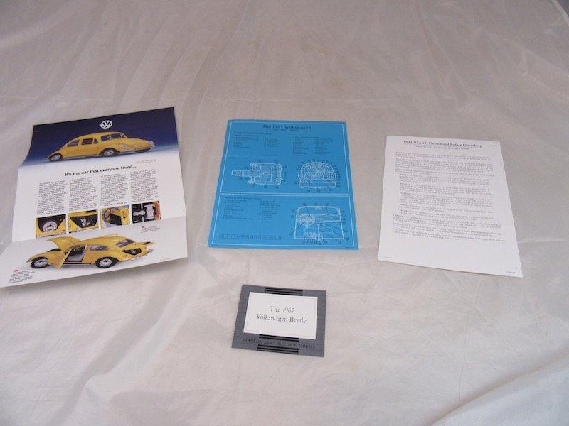 Franklin Mint Precision Model 1967 Volkswagen Beetle - 2
