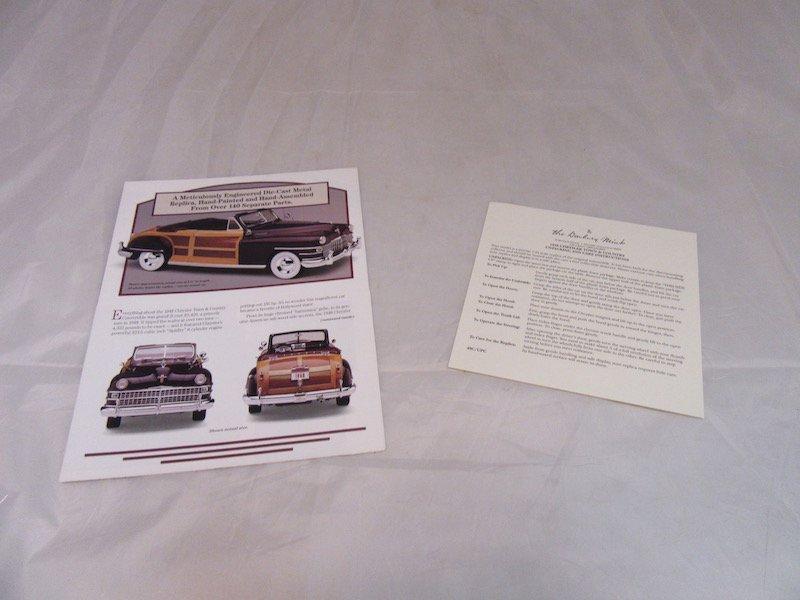 danbury Mint 1948 Chrysler Town & Country - 3