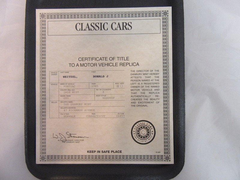 Danbury Mint 1965 Pontiac GTO - 2