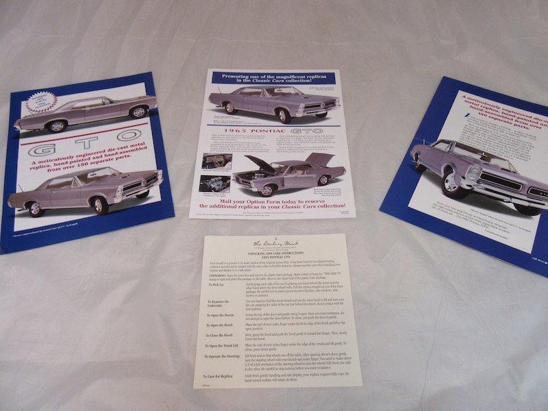 Danbury Mint 1965 Pontiac GTO - 3