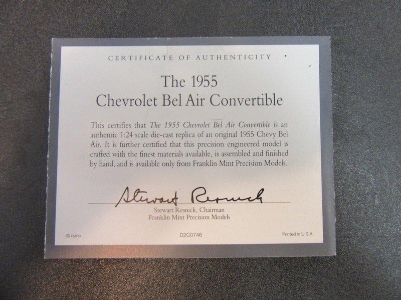 Franklin Mint Precision Models 1955 Chevrolet Bel Air - 3