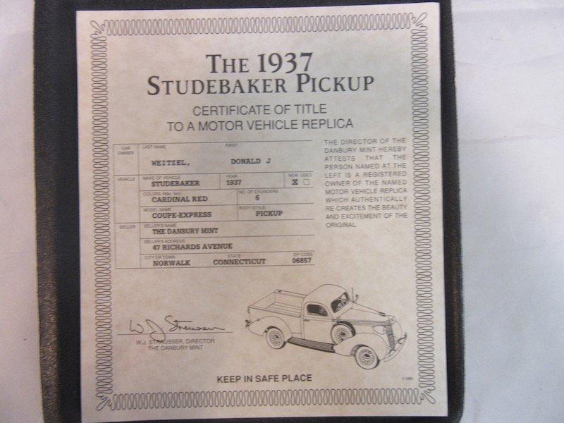 Danbury Mint 1937 Studebaker Pickup - 2