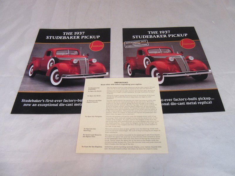 Danbury Mint 1937 Studebaker Pickup - 3
