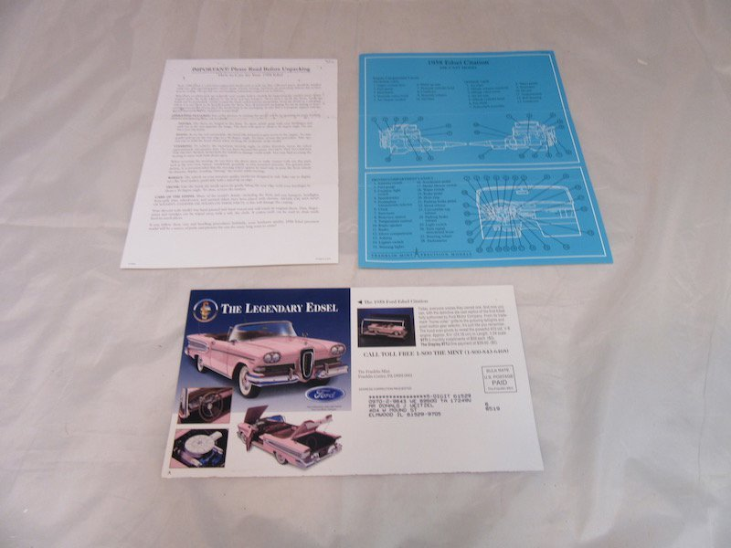 Franklin Mint Precision Models 1958 Edsel Citation - 3