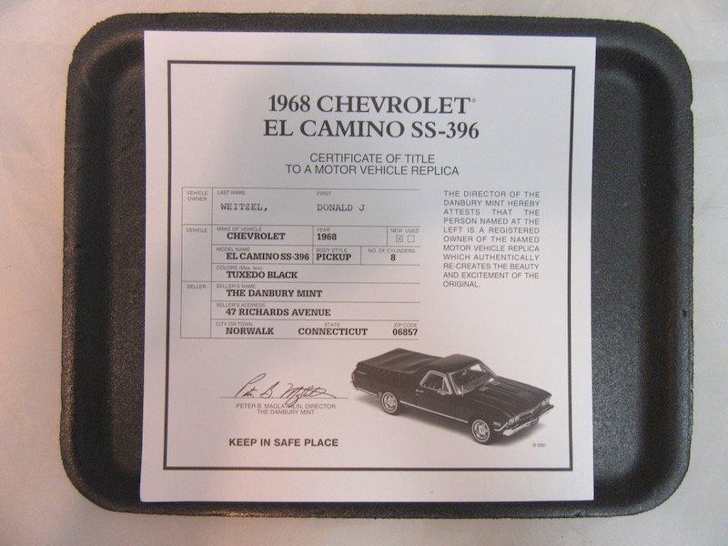 Danbury Mint 1968 Chevrolet El Camino SS-396 - 2