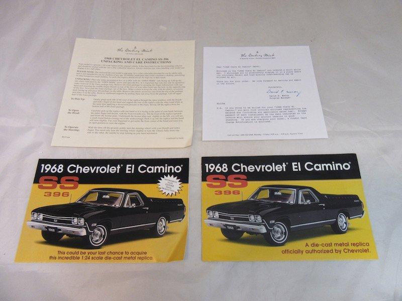 Danbury Mint 1968 Chevrolet El Camino SS-396 - 3