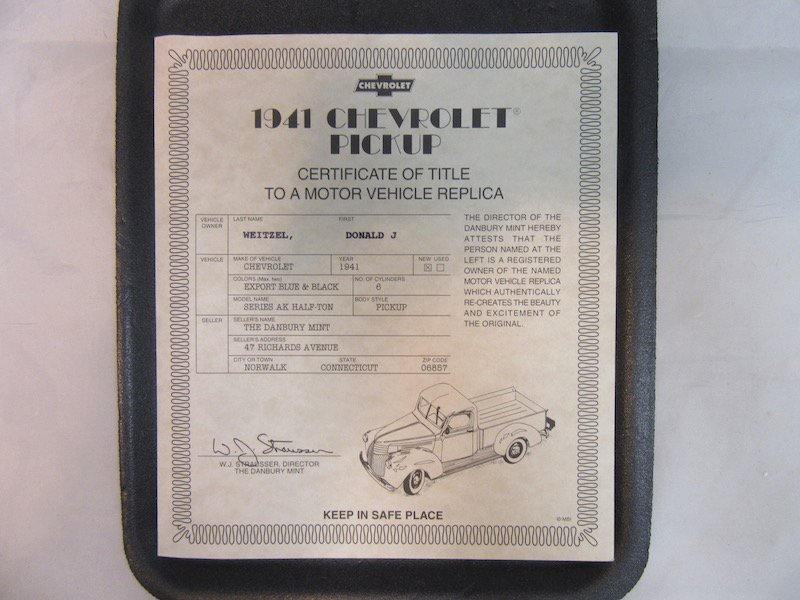 Danbury Mint 1941 Chevrolet Pickup - 2