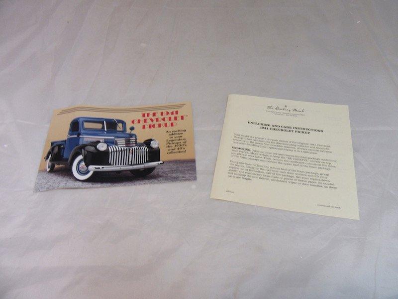 Danbury Mint 1941 Chevrolet Pickup - 3