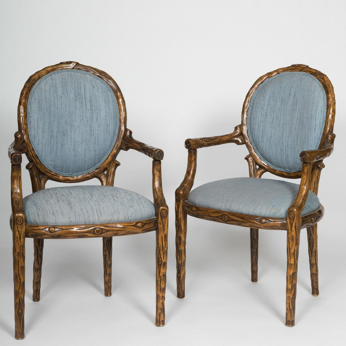 """Pair """"Tree-Form"""" Armchairs"""