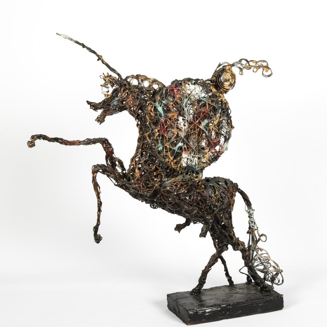 Paco Valle - Don Quixote Wire Sculpture - Signed.