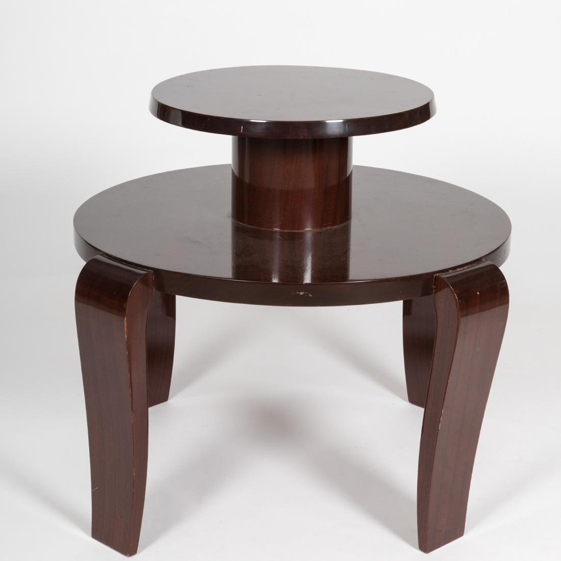 Two Tier Lacquered Mahogany Table