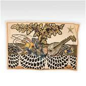 Jean Lurcat Silkscreen Tapestry - Signed