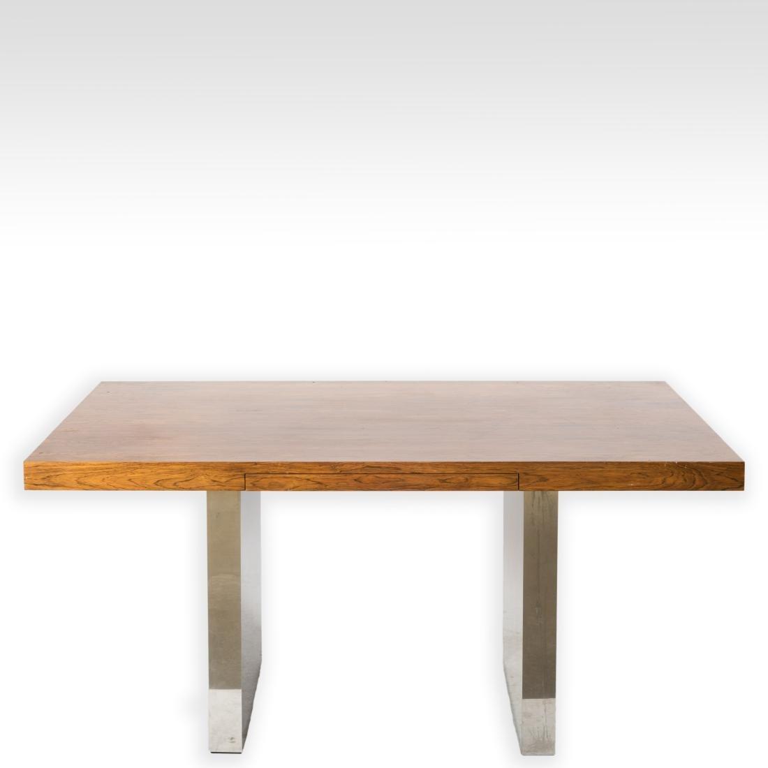 Dunbar Rosewood and Chrome Desk - Signed