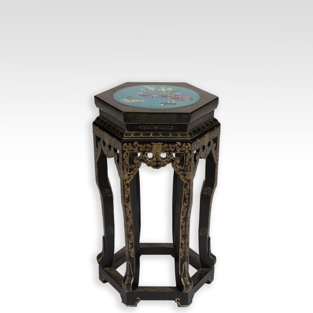 Oriental Stand with Cloisonne Top