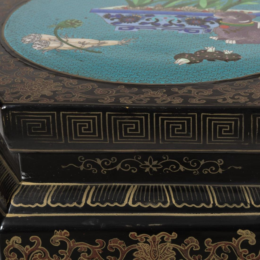 Oriental Stand with Cloisonne Top - 3