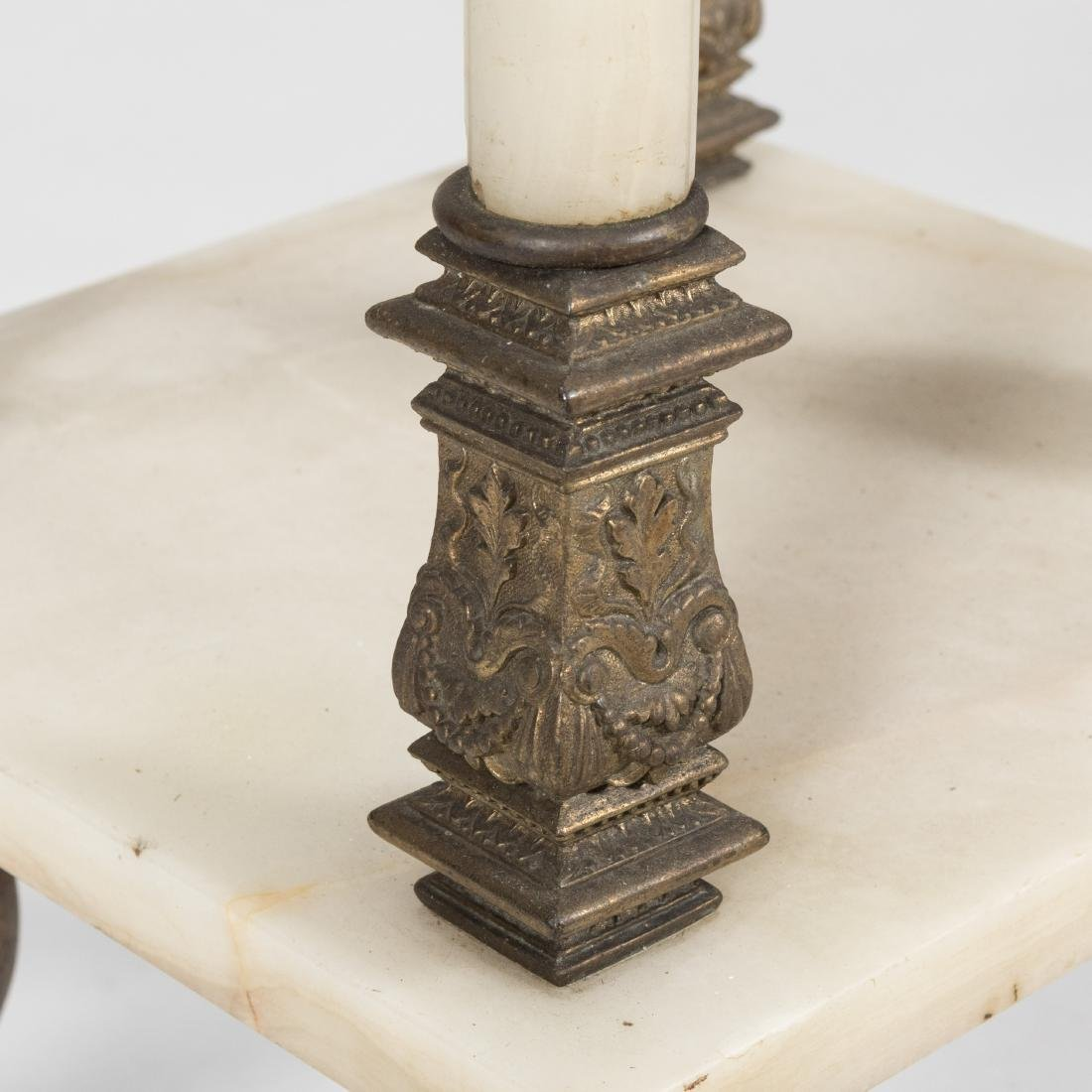 Victorian Bronze and Onyx Stand - 5