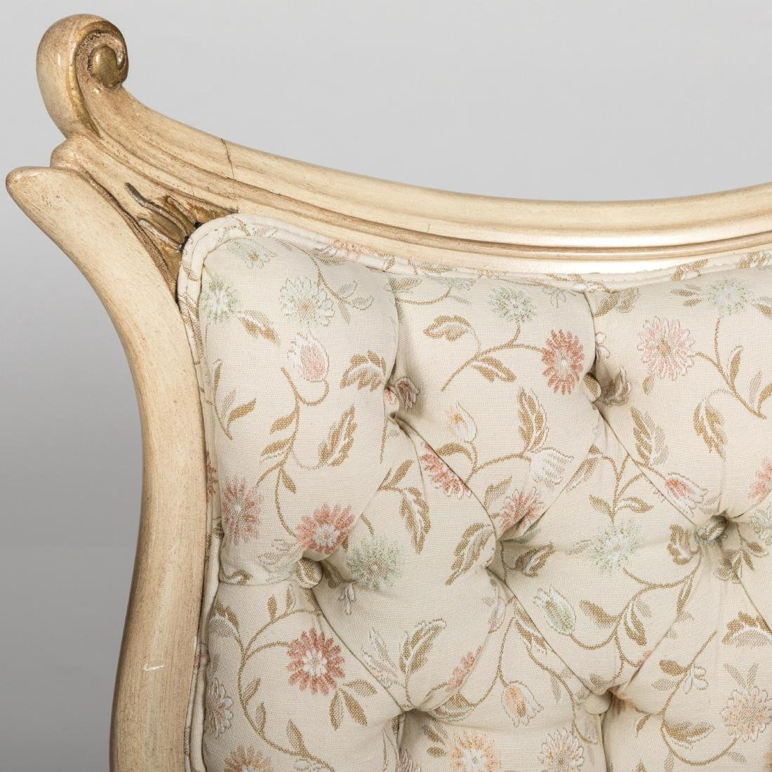 Pair French Provincial Corner Parlor Chairs - 2