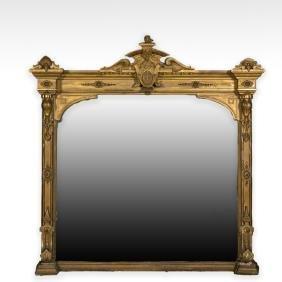 Large Victorian Ornate Gilt Mirror