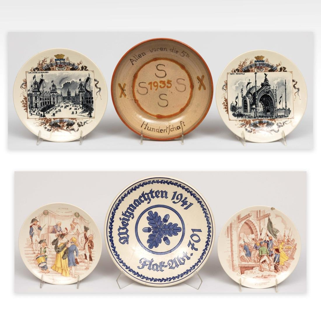 Six French and German Wall Plates