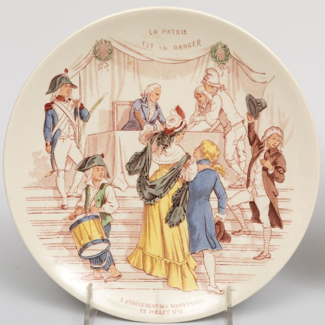 Six French and German Wall Plates - 4