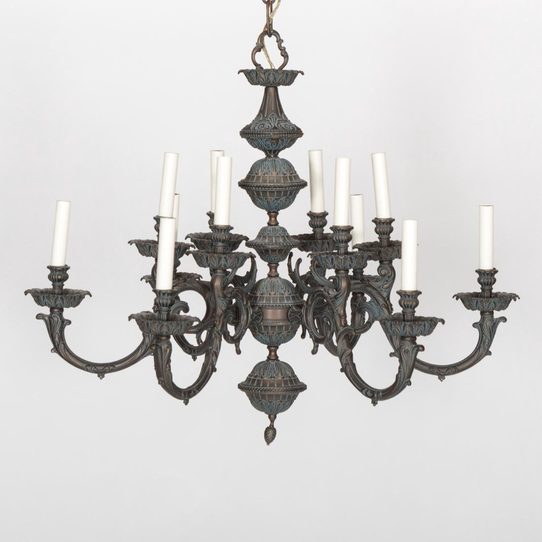 Rococo Style Iron Chandelier