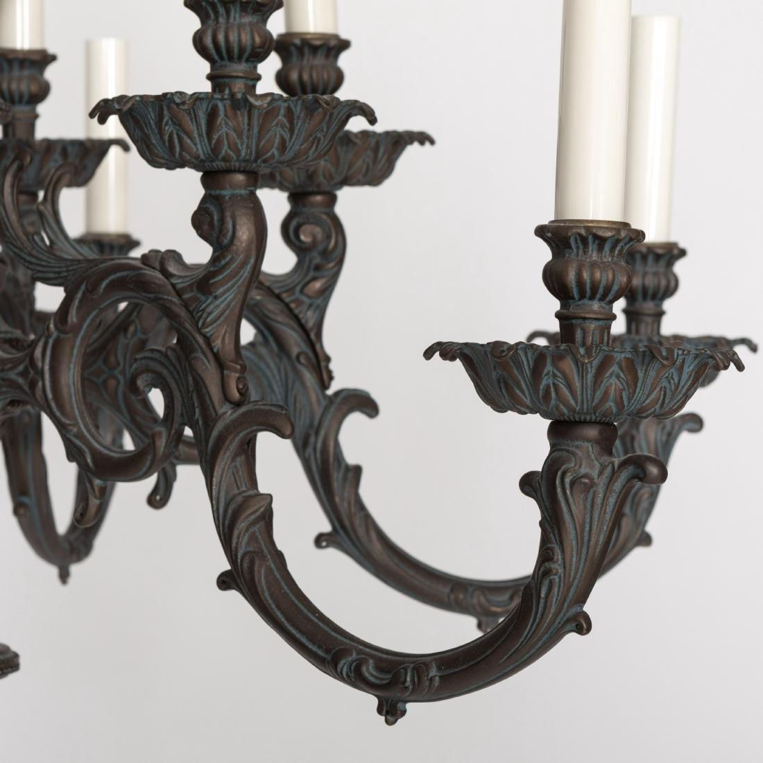 Rococo Style Iron Chandelier - 3