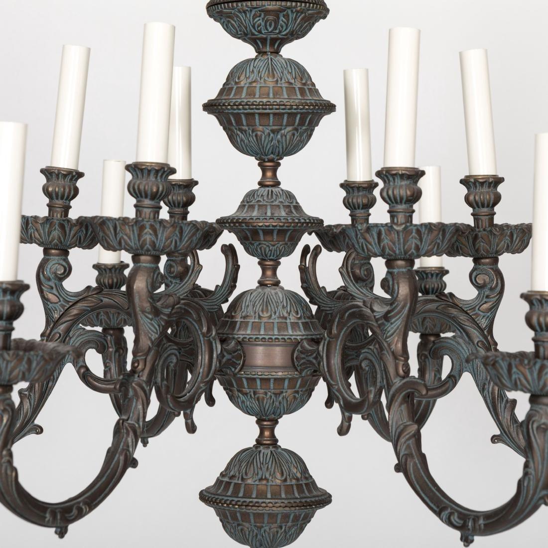Rococo Style Iron Chandelier - 4