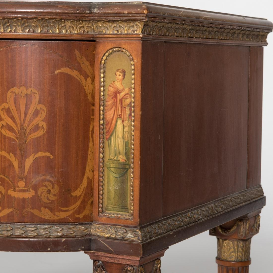 Adams Style Inlaid & Painted Mahogany Server - 2