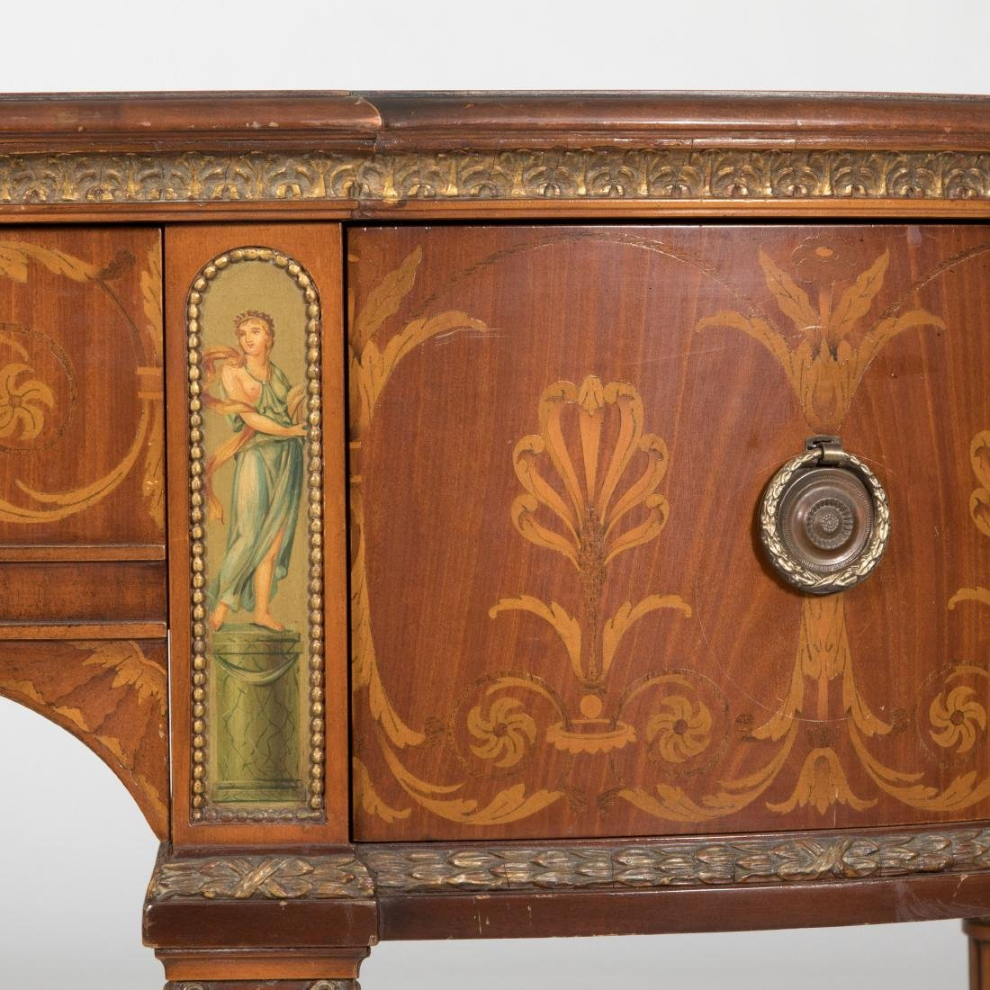 Adams Style Inlaid & Painted Mahogany Server - 3