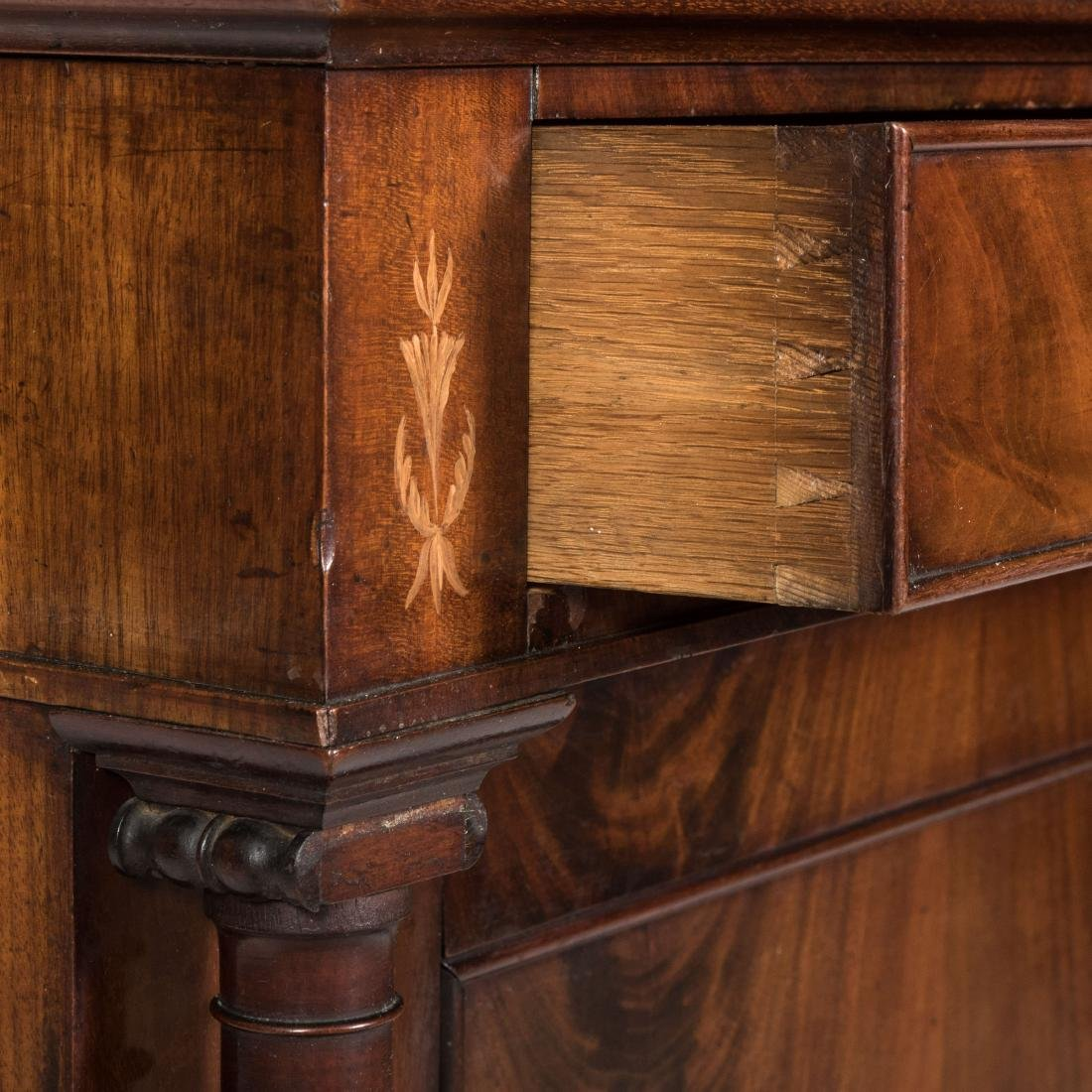 Inlaid Mahogany Antique Cabinet - 2