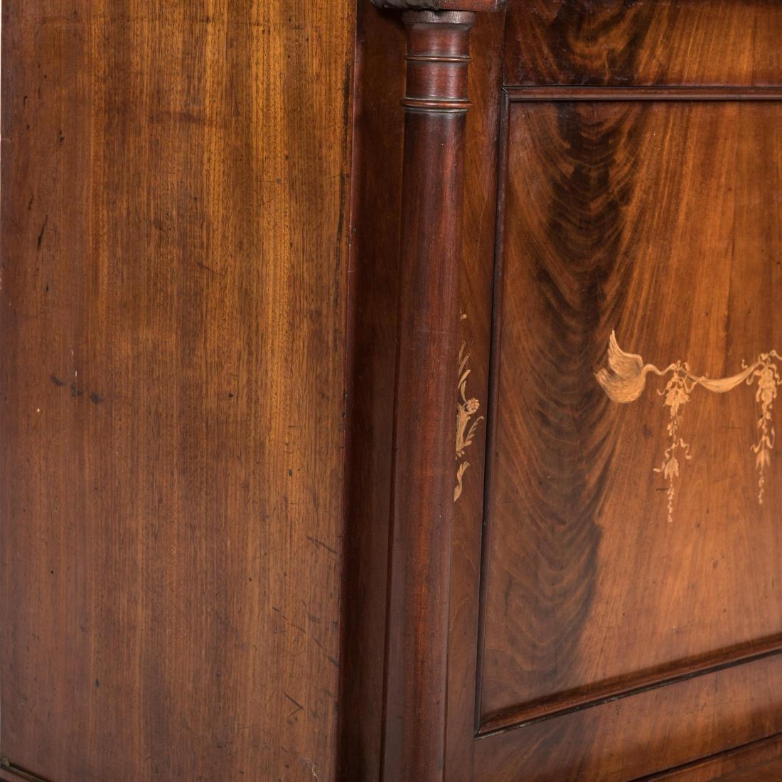 Inlaid Mahogany Antique Cabinet - 3