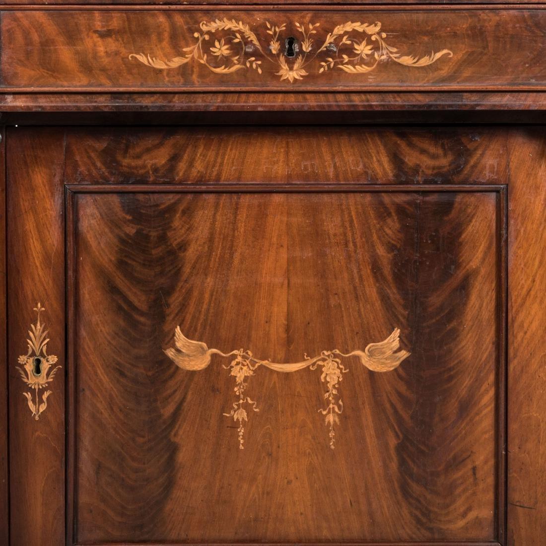 Inlaid Mahogany Antique Cabinet - 4